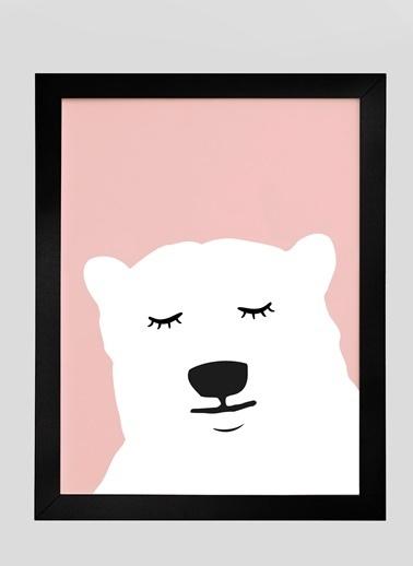 Nordbagen Polar Bear Poster Siyah